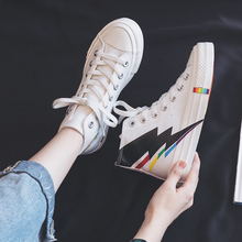 High-top Canvas Shoes for Women 2019 New Korean Style Ulzzan
