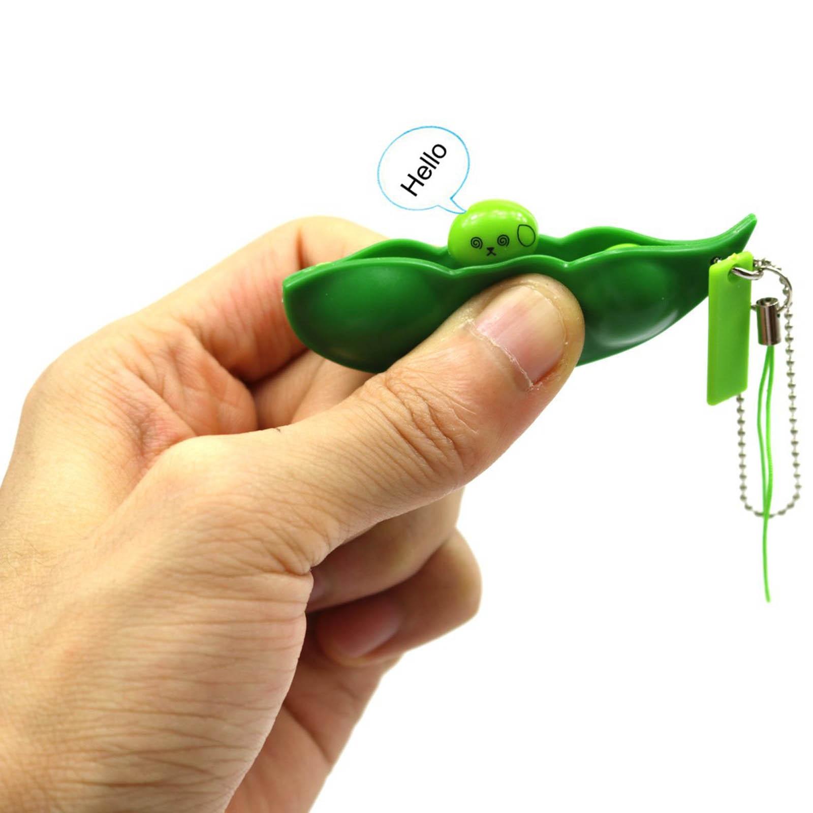 Anti-Stress Toys Keychain Edamame-Toy Peas-Beans Rubber Decompression Pop-It-Fidget Squeeze img4