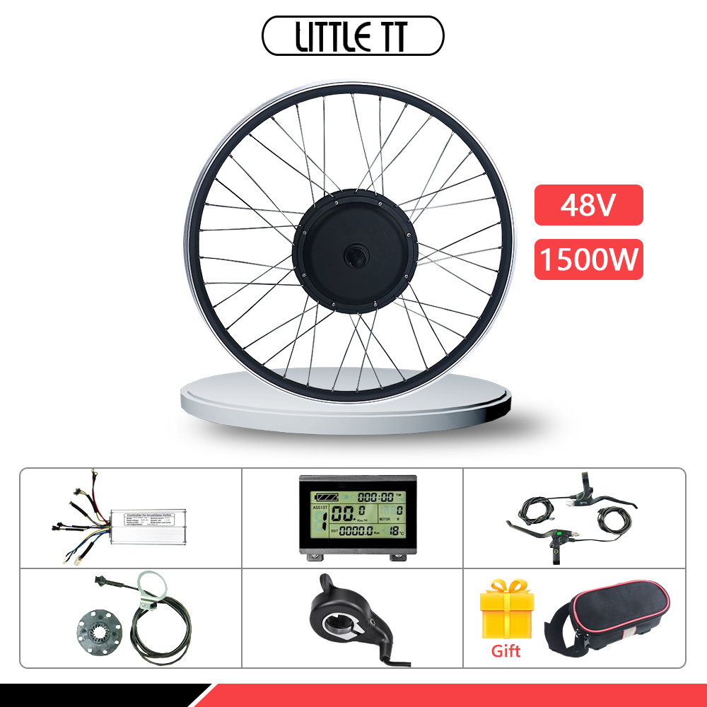 48V 1500W E-Bike Conversion Kit 20-28 Inch 700C Front Hub Motor Wheel With Optional 20
