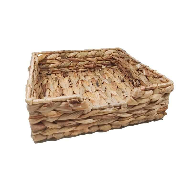 Держатель для соломы ручной работы, раздатчик салфеток, бумажные контейнеры для хранения, держатель для салфеток, лоток для домашнего плетения, квадратный лоток