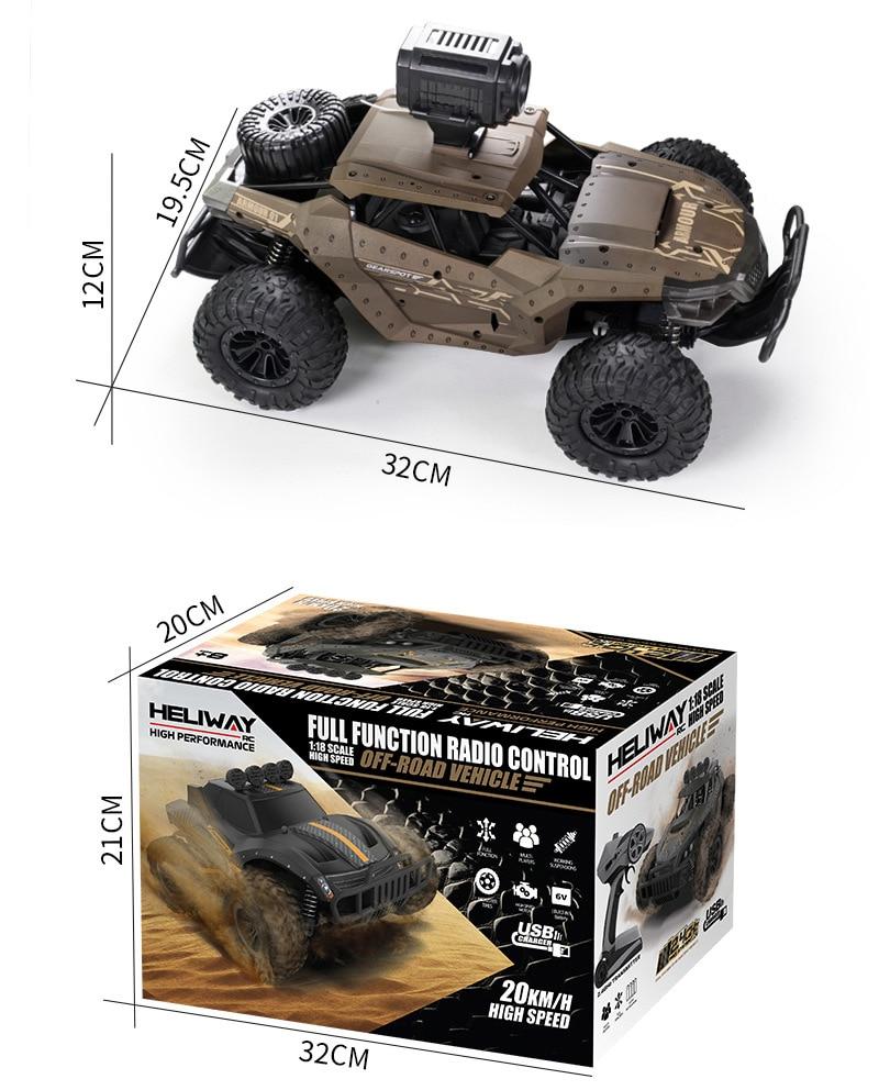 Buggy 4 roues motrices radio 2.4GHz haute vitesse avec caméra HD
