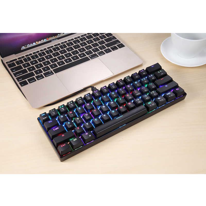 CK61 لوحة المفاتيح الكمبيوتر Kailh صندوق محور لوحة مفاتيح الألعاب الميكانيكية مخصص الخلفية 61 مفاتيح USB السلكية لوحة المفاتيح ل Windows PC