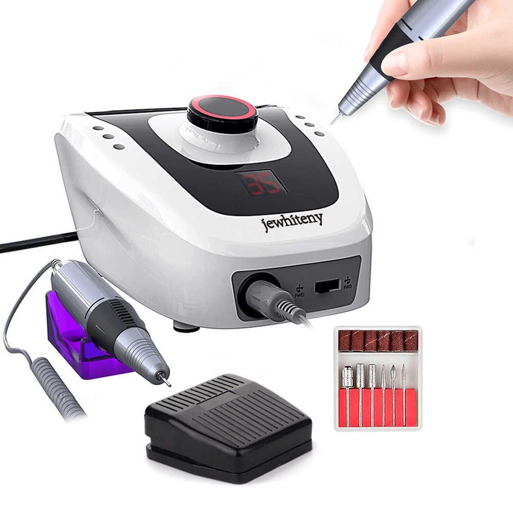 35W 35000RPM JD700 Pro Electric Kuku Bor Mesin Peralatan Manicure Pedicure File Kuku Seni Bor Mesin Pena Set alat