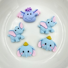 10Pcs Kawaii Cute mini Mixed little elephant Flat back Resin Cabochons Scrapbooking DIY Jewelry Craft Decoration Accessories C65 50pcs lots cute fly horse flat back resin diy craft supplies for bow center decoration unicorn button earring jewelry ornament