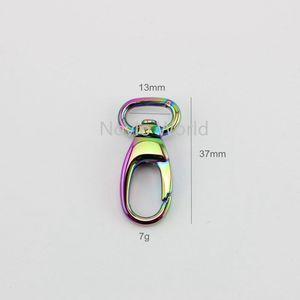 Image 2 - 10 50pcs 7 colors 13*37mm small trigger snap hook clasp metal clip swivel dog leash bags small handbag purse adjusted strap hook