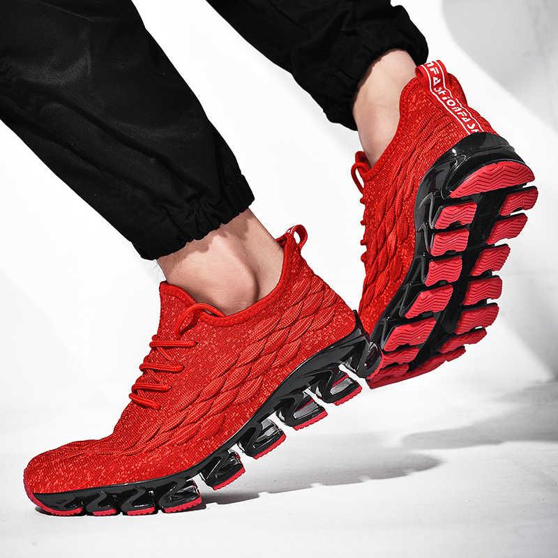 NIKEZI الرجال الصبي طالب عارضة Springblade دافئ مريحة احذية الجري أحذية رياضية المشي الاستقرار رياضة اللياقة البدنية الأحذية