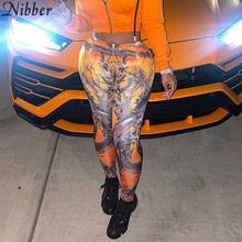 Nibber Trend Leggings Skinny da donna con stampa Tie-Dye autunno inverno Street Stretch Activity Pencil 2020 pantaloni Fitness Casual