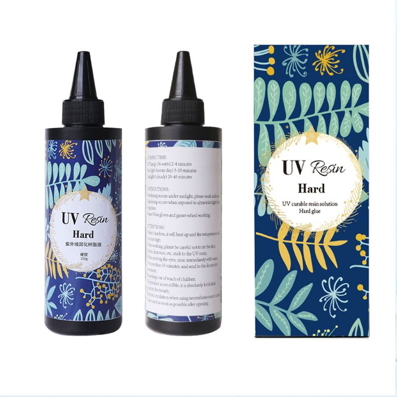 10/25/50/60100 G Hard UV Resin Glue Crystal Clear Ultraviolet Curing Epoxy Resin Jewelry Making