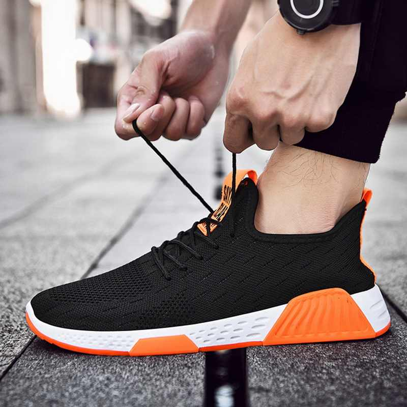 Men Running Sneakers 2019 New Light Weight Jogger Running Sneakers Casual Gym Fitness Trainers Shoes Male Sporting Outdoors Shoe
