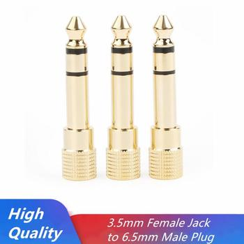 3.5mm Female To 6.5mm Male Stereo Jack Plug Audio Connector Headphone Microphone Plug Adapter Audio 6.5 To 3.5 Adapter image