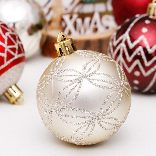 Купить 30 шт 6 см красочные блестящие рождественские шары 2020 натальные картинки цена