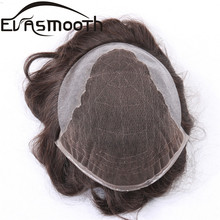Fashion Men Toupee Q6 Style Hair Replacement System Lace Male Wig Natural Remy Human Small Prosthesis 5??*7?? 8??*10??
