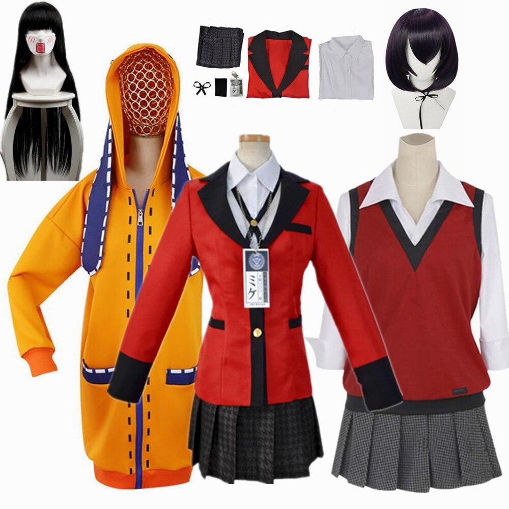 Anime Kakegurui Yumeko Jabami Kakegurui Twin Uniform Cosplay Costumes Halloween Girls Clothes Women Suits