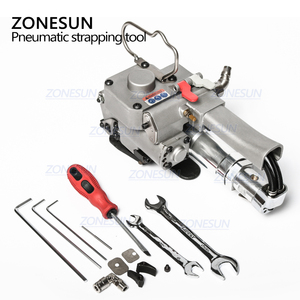 Image 5 - ZONESUN AQD 19 Portable Pneumatic PET Strapping Tool,banding Tool Binding Packing Machine For 12 19mm PP Plastic Strap