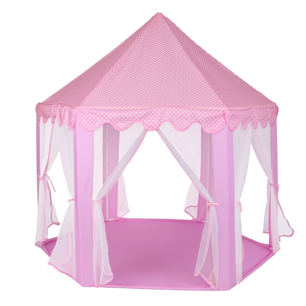 Baby Toy Tent Portable Folding Prince Princess Tent Children Castle Play House Kid Gift Outdoor Beach Tent Girls Gifts