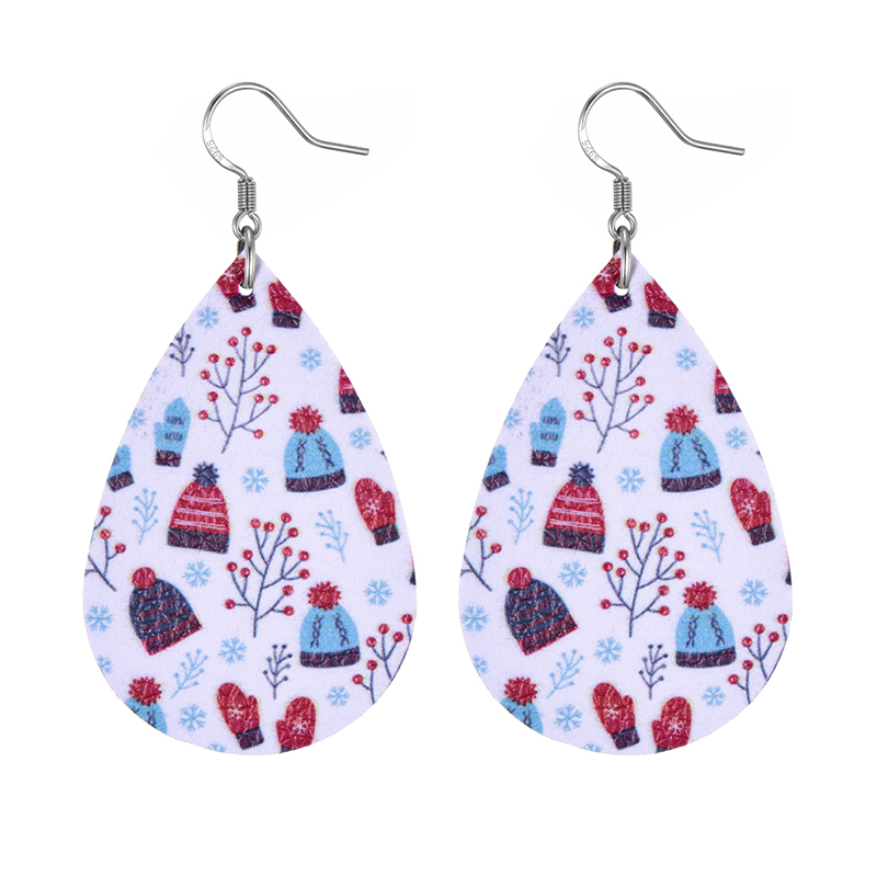 New Teardrop Leather Earrings Petal Drop Earrings Antique Lightweight S925 Carved Stainless Steel Earrings For Women Gifts 31