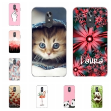 For LG Q Stylo 4 Stylus Case Soft TPU Silicone Cover Flowers Patterned Plus Bag