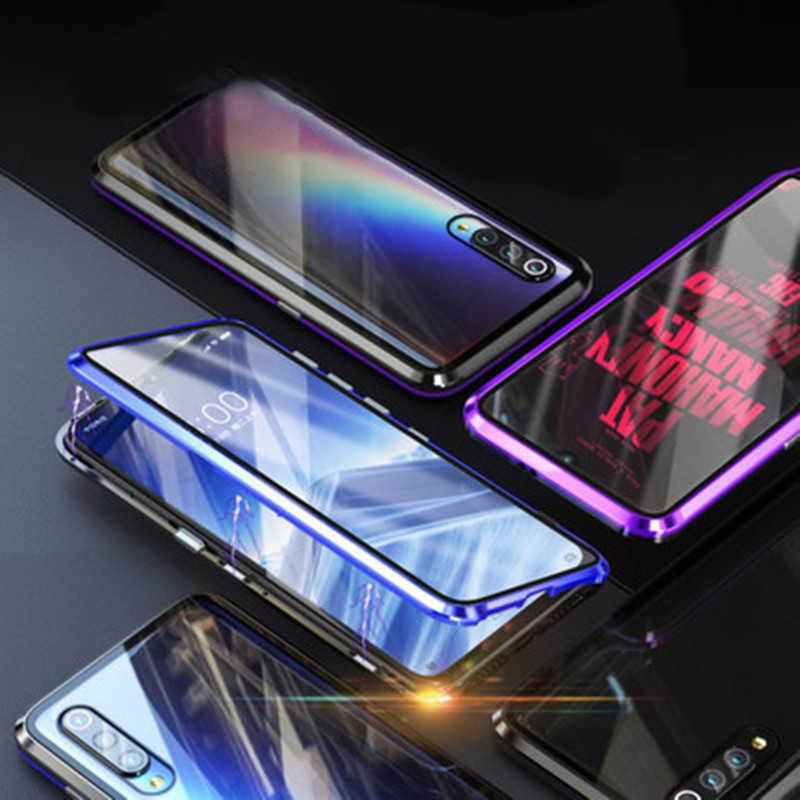 両面磁性金属ケース xiaomi mi 10 9SE A3 lite ポコ F1 9 t redmi K30 k20 注 8 t 8 7 9 9 s pro ガラスケース