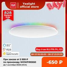 €10 Code 08ESOW10 Yeelight-lámpara de techo inteligente LED con brillo ajustable, luz LED RGB de colores, funciona con google Alexa mijia, 450C/550C, nuevo