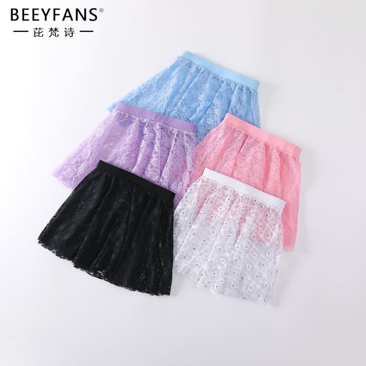 Girls Floral Lace Wrap Ballet Skirt Dance Skate Over Scarf Circle Skirt