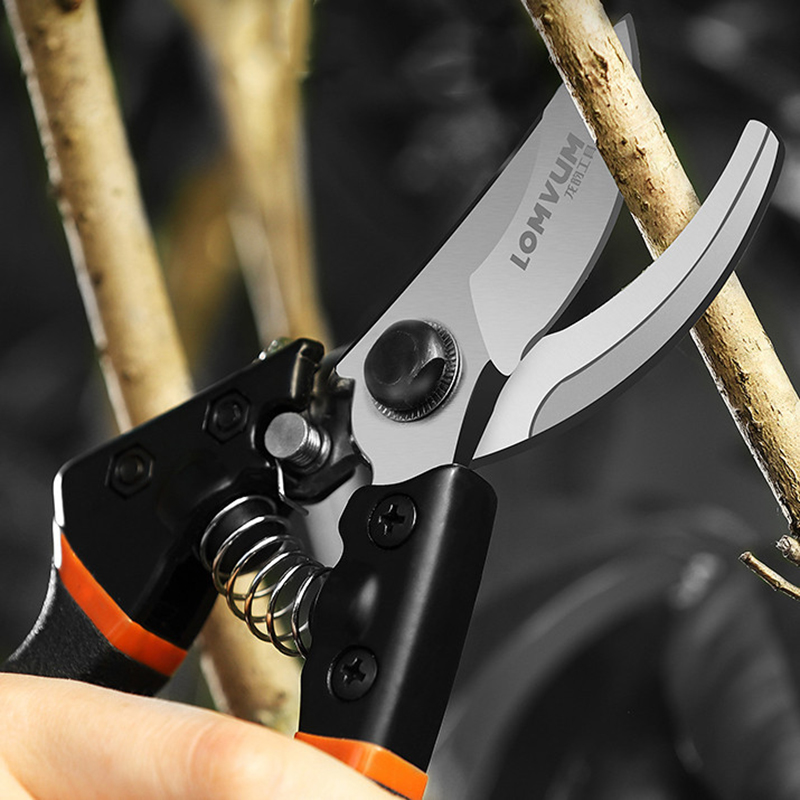LOMVUM High Quality Gardening Scissors for Pruning of Branches shrubs and flowers with Safety 5