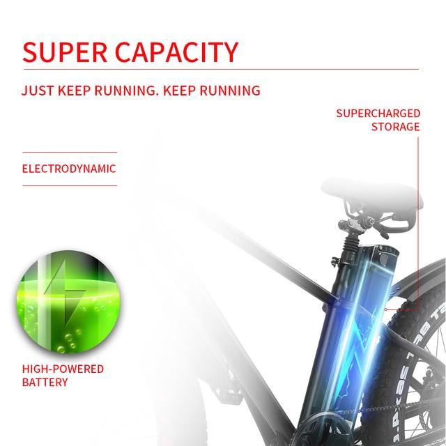 Электрический велосипед 750W 48V 15A ebike горный велосипед полная шина e велосипед взрослые Meb 26 дюймов 21 скорость, алюминиевая рама двойной дисков...