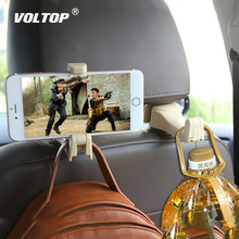 Car Headrest Hooks Multi-function Ornaments Seat Back Hook Phone Mount Holder Fastener Hanger Clips for Bag Handbag