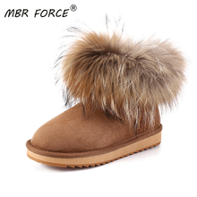 Snow-Boots Shearling Winter Shoes Sheepskin Leather Women Fur Ankle FOR Genuine Wool-Fur
