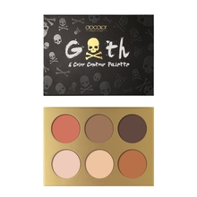 Portable 6-color Eyeshadow Palette Nude Earth Color Waterproof Smudge-proof Glitter Matte Eye Shadow Pigments Makeup