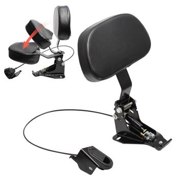 Motorcycle Driver Rider Backrest + Adjustable Mounting Kit Fit For Harley Touring Electra Glides Road King CVO 2009-2019 free shipping black stock oil cooler cover for harley road kings road glides street glides 2011 2015