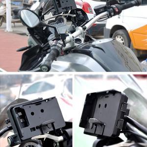 """Image 3 - טלפון נייד ניווט סוגר עבור BMW R1200GS עו""""ד F700 800GS CRF1000L אפריקה Twin עבור הונדה אופנוע USB טעינה 12MM moun"""