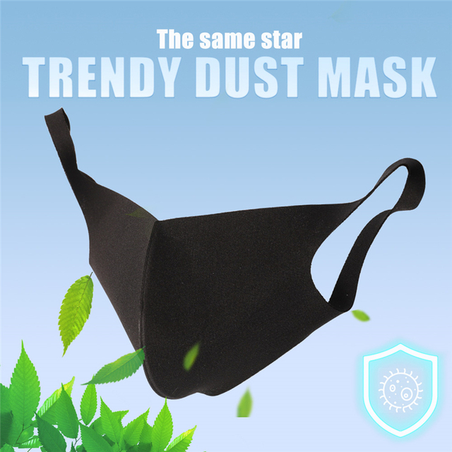 Black Mouth Mask Anti Dust Mask PM2.5 Activated Carbon Filter Windproof Bactea Proof Flu Face Masks Care Safety Mask for Dust 1