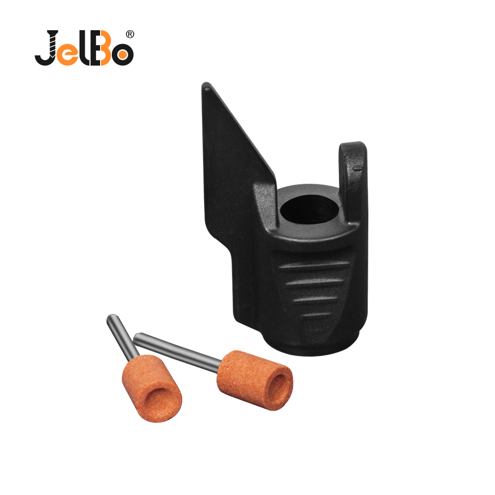 JelBo Saw Sharpening Attachment Sharpener Guide Drill Adapter For Dremel Drill Rotary Power Tools Mini Drill Accessories Set