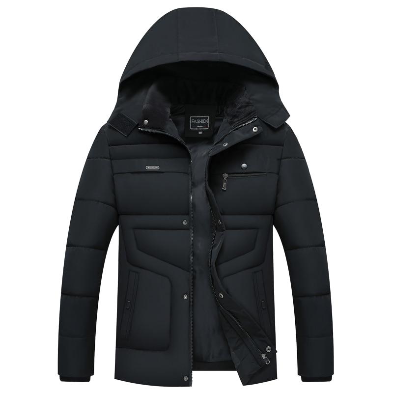 2019 New Style Winter Hot Fashion Hooded Winter Coat Men -20 Degree Thick Warm Mens Winter Jacket Parka Outwear Streetwear