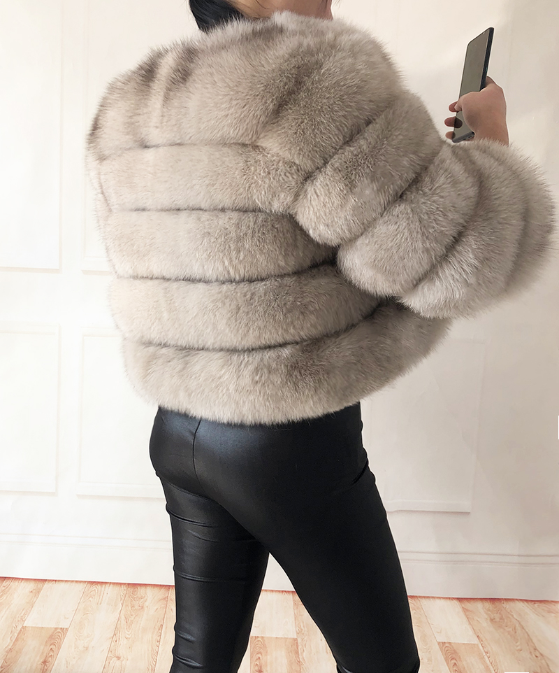 2019 new style real fur coat 100% natural fur jacket female winter warm leather fox fur coat high quality fur vest Free shipping 147