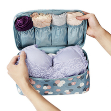 Travel Bag Compression Packing Cubes Bags Women Underwear Bra Sock Clothes Luggage Organizer Waterproof Traveling Bag