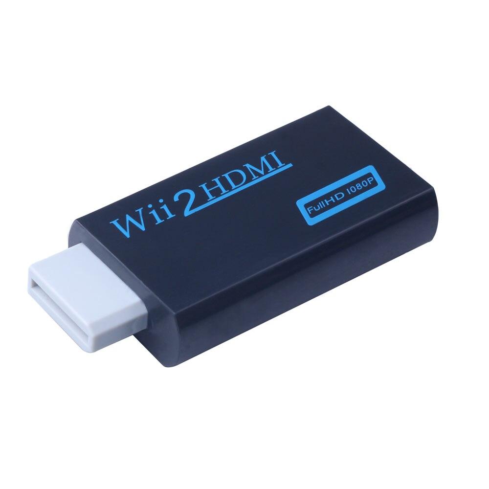 Wii para HDMI Conversor Adaptador Full HD 1080P para Wii2HDMI Conversor 3.5 milímetros de Áudio para PC HDTV Monitor de Exibição