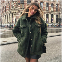 Winter Plus Size Pregnancy Womens Coats Lapel Lamb Coat Maternity Clothing  Female Loose