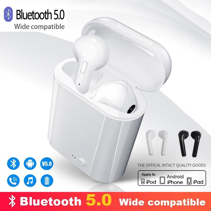 I7s наушники-вкладыши tws с 5,0 Bluetooth наушники Air Наушники Hi-Fi спорт громкой связи Bluetooth гарнитура для Беспроводной наушники гарнитура с зарядным ...