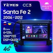 TEYES CC3 Штатная магнитола For Хендай Санта Фе 2 For Hyundai Santa Fe 2 2006 - 2012 до 8-ЯДЕР, до 6 + 128ГБ 27EQ + DSP автомагнитола 2 DIN DVD GPS android 10 мультимедиа автомобиля г...