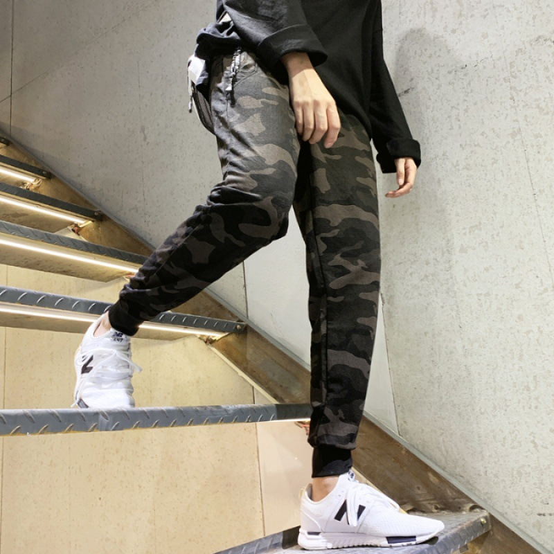 Spring And Summer-INS Super Fire Pants Men's Popular Brand Loose-Fit Sports Beam Leg Korean-style Trend Casual Harem Versatile P