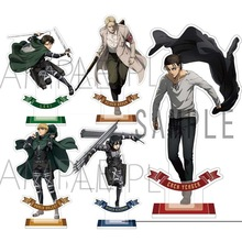 Hot Anime Attack on Titan Erwin Smith Acrylic Stand Display Model Plate Birthday Cake Decor Toy Cosplay Student Xmas Gift
