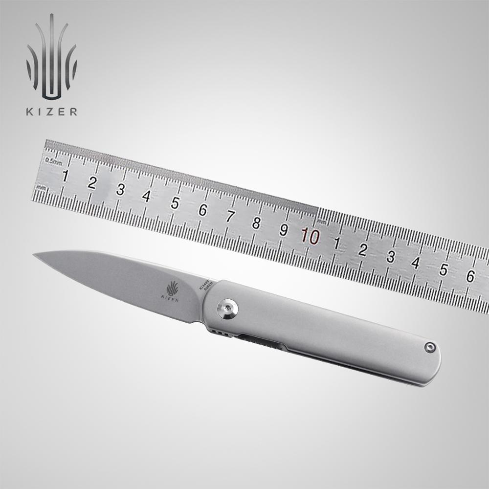 Kizer Pocket Knife Ki3499 Feist Folding Blade Mini EDC S35VN Blade Tactical Titanium Handle High Quality Hand Tool