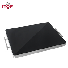 ITOP 400W Food Warmer Tray, Stainless Steel Hot Plate Food Insulation board Buffet Electric Heating Board Keep At 80 Celsius