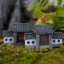 Dollhouse Fairy Garden Miniature Craft Micro Cottage Landscape Home Decor For DIY Resin Crafts Miniature Fairy House Decor ark light diy decoration miniature glass pot led table lamp fairy terrarium potting garden decor miniature microlandschaft
