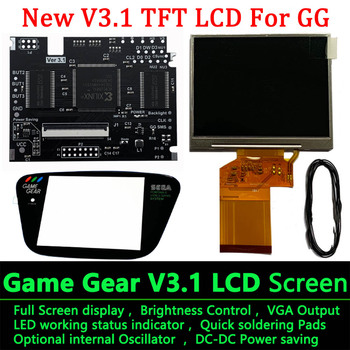 Full Screen TFT V3.1 LCD Kits For SEGA Game Gear High light Brightness Backlight with VGA for GG Games - discount item  25% OFF Games & Accessories