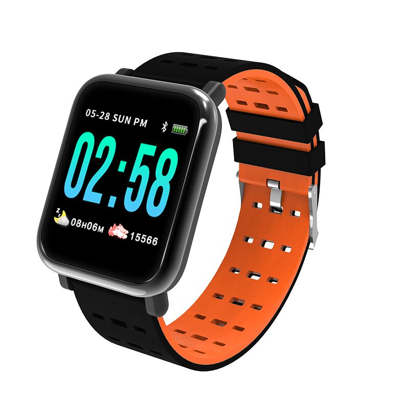 Oloey Smart Bracelet M20/A6 Real-time Heart Rate Blood Pressure Sleep Monitoring 1.3 Inch IP67 Waterproof Sports Watch