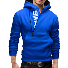 Men Football Jerseys Zipper Letter Print Men's Outerwear Autumn Winter Men Sportswear Fitness Sweatshirts Outerwear 4XL