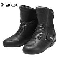 ARCX Motorcycle Waterproof Genuine Leather Boots Racing Boots Riding Road Long Boots Mens Riding Wear Resistant Motocross Shoes