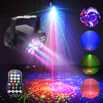 RGB Dj LED Stage Light Effect UV Lamp Ultraviolet Black Par Laser Party KTV Christmas Music Sound Activated Disco Lights for dj stage lamp dj disco crystal rotating light magic ball for ktv bar home 15 color voice activated party effect sound music